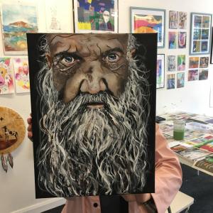 acrylic man painting adult art classes