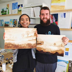 cassel brown stain adult art classes