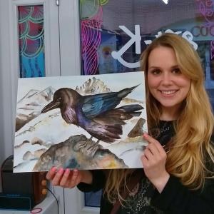 Raven ink adult art classes