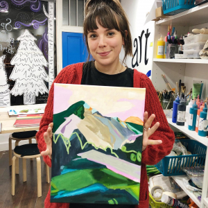 Acrylic painting on canvas adult art classes