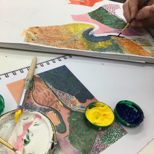 Hockney painting
