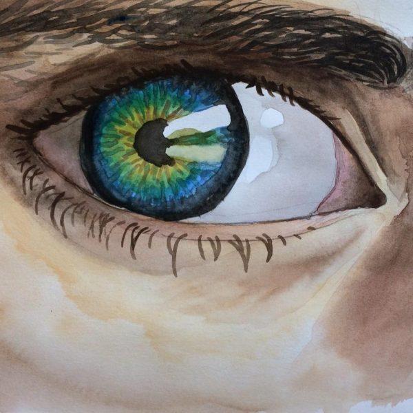 Watercolour Eye Zoom